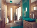 Salle de bain derriere tete de lit