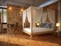 Chambre à coucher lit baldaquin